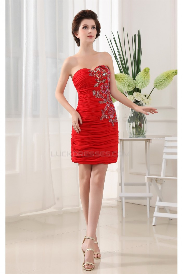 Sleeveless Ruffles Chiffon Silk like Satin Prom/Formal Evening Dresses 02021213