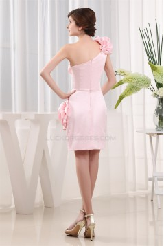 Sleeveless Satin Chiffon Short/Mini Sheath/Column Homecoming Dresses 02021216