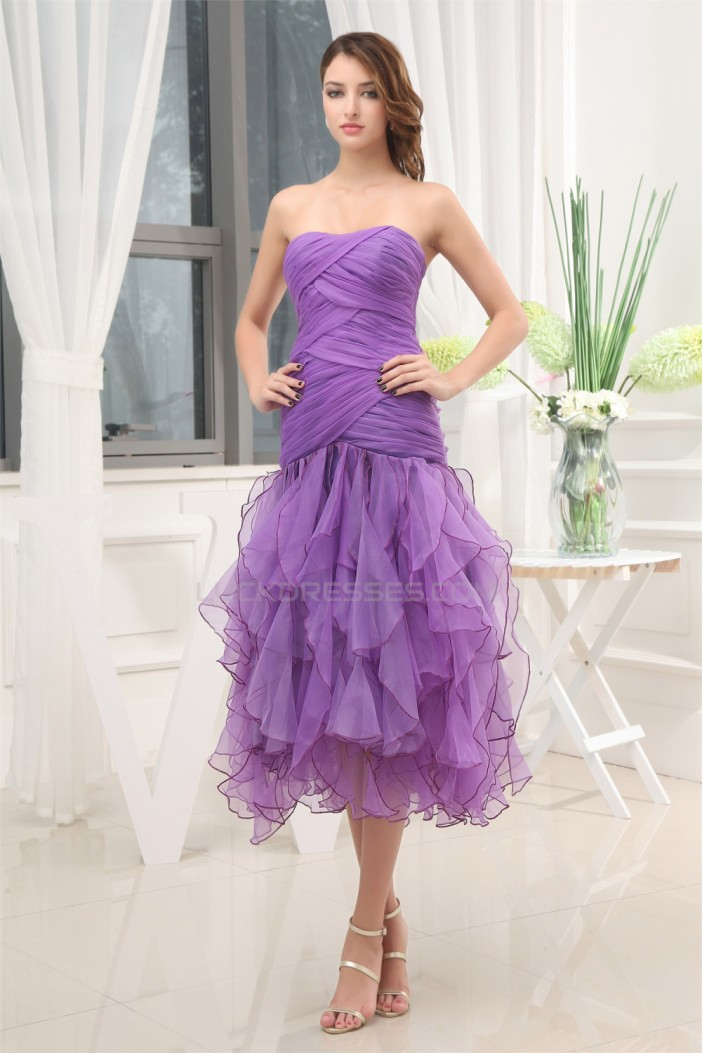 Sleeveless Satin Organza Ruffles Soft Sweetheart Prom/Formal Evening Dresses 02021218