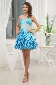 Sleeveless Short/Mini A-Line Beading Halter Prom/Formal Evening Dresses 02021224