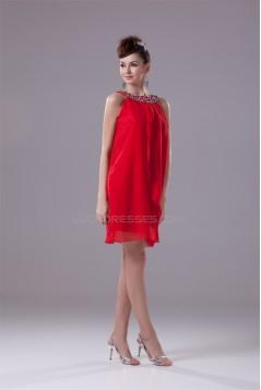 Sleeveless Short/Mini Sheath/Column Scoop Bridesmaid Dresses 02021226