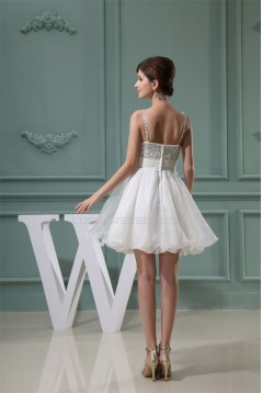 A-Line Short/Mini Sweetheart Beaded White Prom/Formal Evening Homecoming Dresses 02021229
