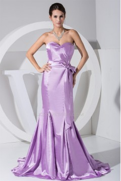 Trumpet/Mermaid Sweetheart Brush Sweep Train Long Prom/Formal Evening Dresses 02020123