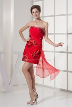Sleeveless Soft Sweetheart Beading Satin Chiffon Prom/Formal Evening Dresses 02021232