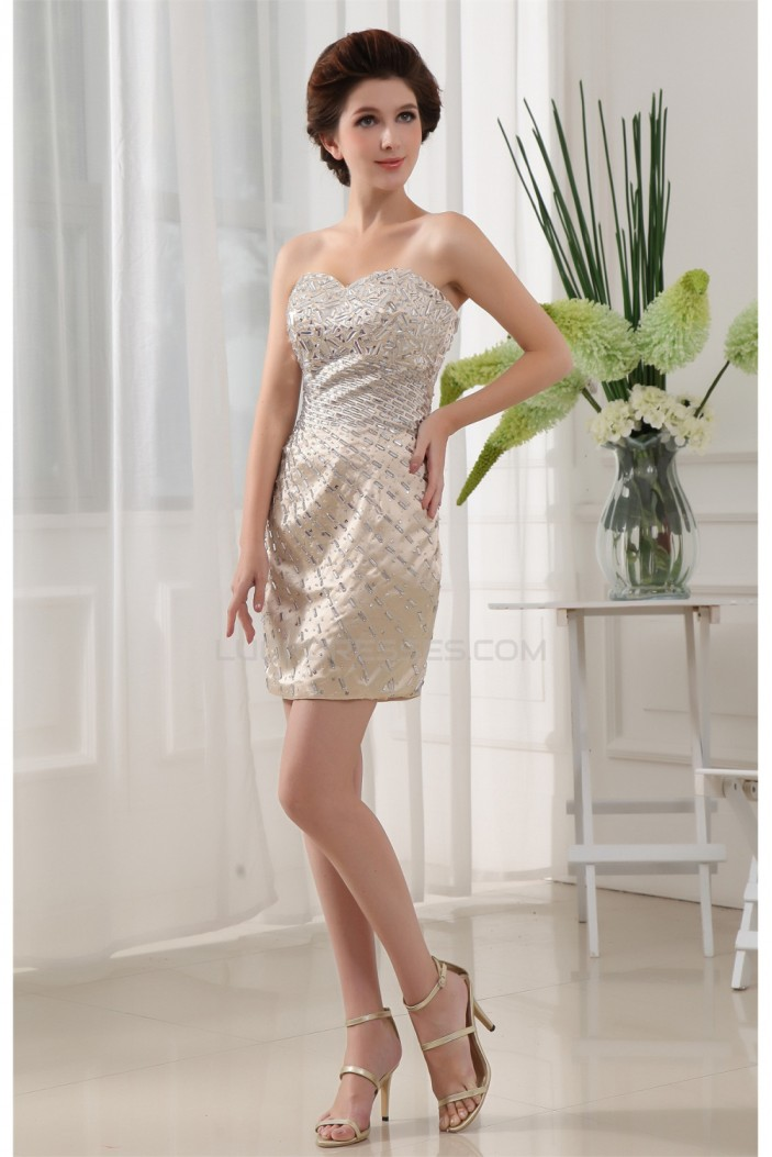 Sleeveless Sweetheart Short/Mini Beading Prom/Formal Evening Dresses 02021233