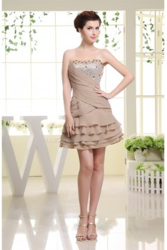 Soft Sweetheart A-Line Chiffon Sequined Material Prom/Formal Evening Dresses 02021237