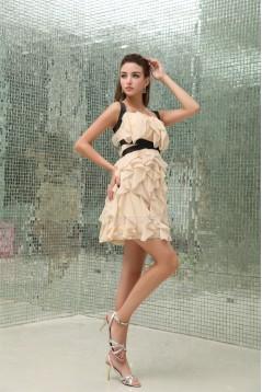Spaghetti Straps Sheath/Column Short/Mini Prom/Formal Evening Dresses 02021240