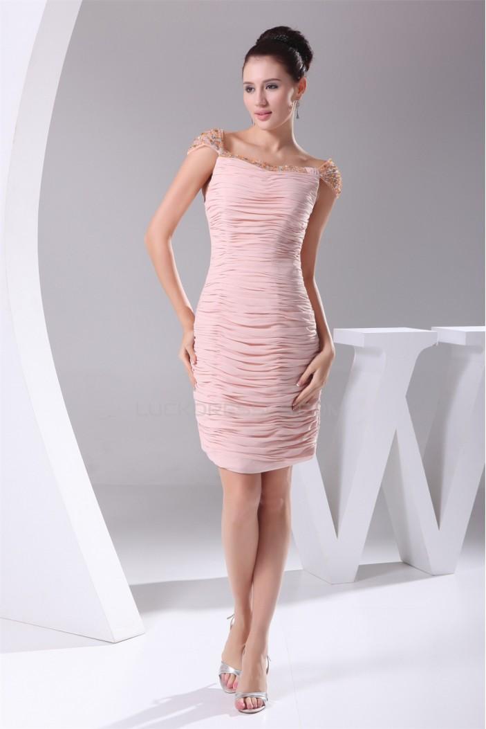 Square Sleeveless Chiffon Silk like Satin Mother of the Bride Dresses 02021242