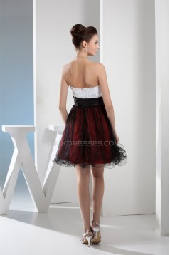 Strapless A-Line Sleeveless Short/Mini Prom/Formal Evening Dresses 02021243