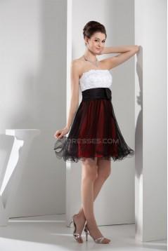 Strapless A-Line Sleeveless Short/Mini Prom/Formal Evening Dresses 02021243