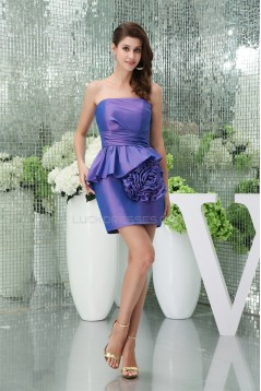 Strapless Ruched Short/Mini Sleeveless Prom/Formal Evening Dresses 02021246