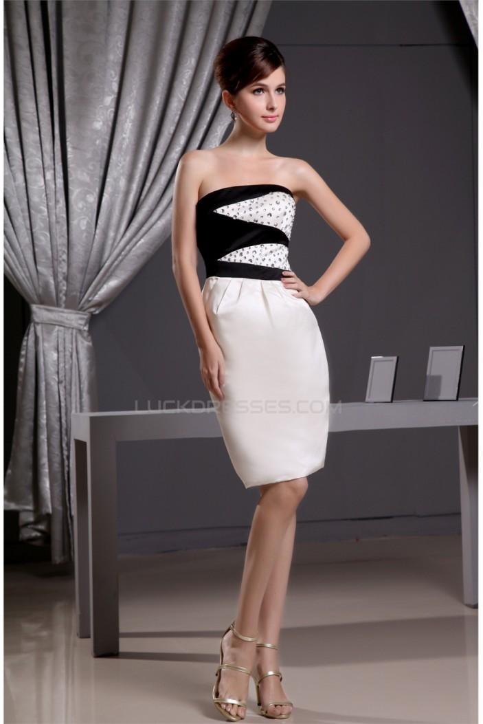 Strapless Satin Sheath/Column Sleeveless Prom/Formal Evening Dresses 02021247