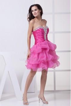 A-Line Sweetheart Beading Short/Mini Sleeveless Prom/Formal Evening Dresses 02021253