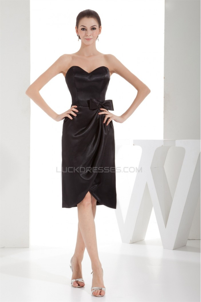 Sweetheart Beading Knee-Length Sheath/Column Prom/Formal Evening Dresses 02021254