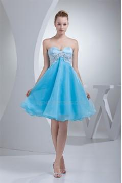 A-Line Sweetheart Beading Sleeveless Knee-Length Prom/Formal Evening Dresses 02021255