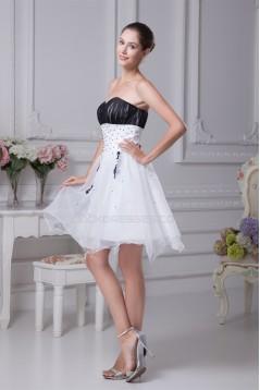 Sweetheart Ruffles Satin Organza Sleeveless Prom/Formal Evening Dresses 02021257