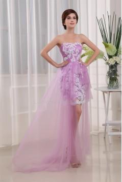 Sweetheart Sheath/Column Lace Silk like Satin Fine Netting Homecoming Dresses 02021259