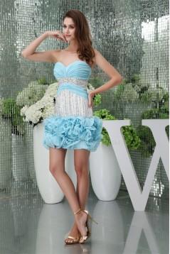 Sweetheart Chiffon Beaded Cocktail Homecoming Dresses 02021262