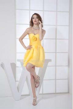Sweetheart Sleeveless Satin Short/Mini Bridesmaid Evening Dresses 02021266