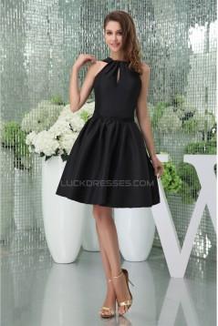 Taffeta Ruffles Knee-Length Straps Sleeveless Prom/Formal Evening Bridesmaid Dresses 02021269