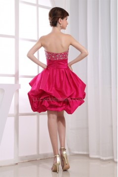 Taffeta Soft Sweetheart Ball Gown Short/Mini Prom/Formal Evening Dresses 02021271