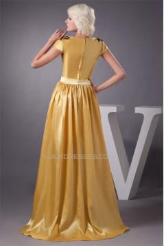 Asymmetrical Bows Short A-Line Taffeta Prom/Formal Evening Dresses 02021284