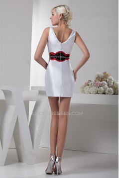 Beading Portrait Sleeveless Short/Mini Prom/Formal Evening Dresses 02021290