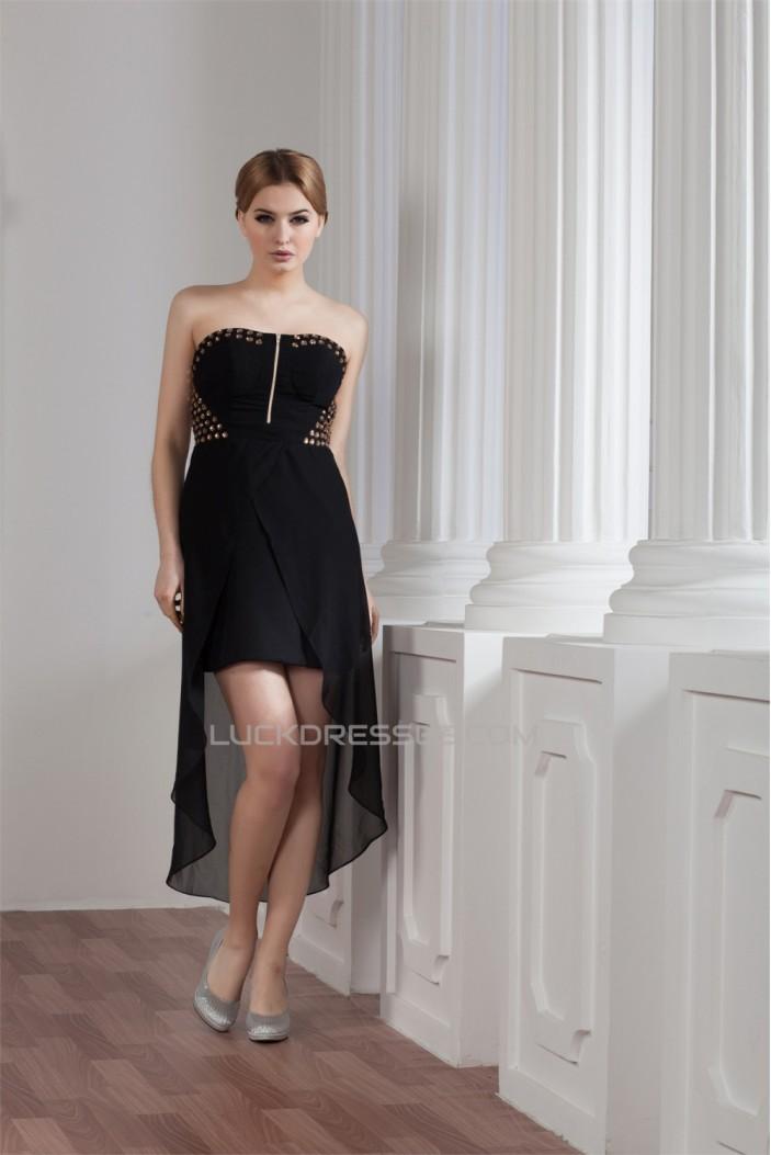 Beading Sheath/Column High Low Asymmetrical Sleeveless Prom/Formal Evening Dresses 02021293