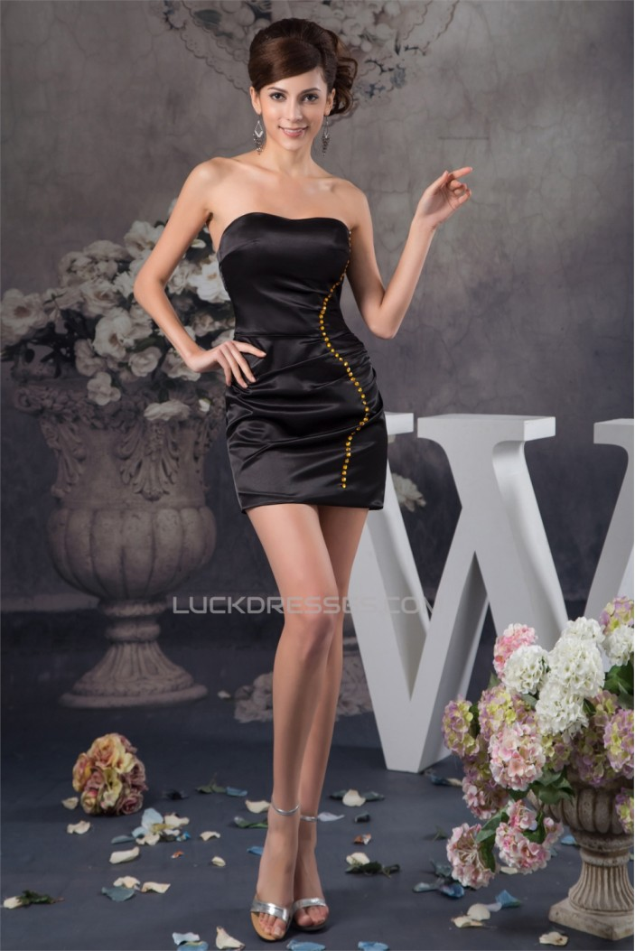 Beading Sheath/Column Silk like Satin Sleeveless Prom/Formal Evening Dresses 02021296