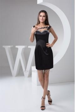 Beading Short/Mini Black Sleeveless Prom/Formal Evening Dresses 02021298