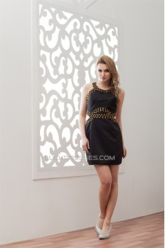 Elastic Woven Satin Sheath/Column Beading Prom/Formal Evening Dresses 02021320