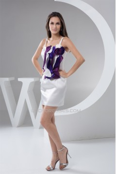 Handmade Flowers Elastic Woven Satin Sheath/Column Prom/Formal Evening Dresses 02021325