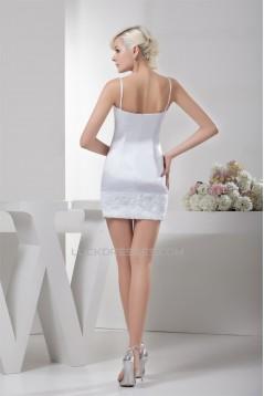 Handmade Flowers Satin Lace Silk like Satin Prom/Formal Evening Dresses 02021326
