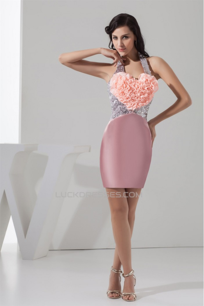 Handmade Flowers Sequins Sheath/Column Prom/Formal Evening Dresses 02021328