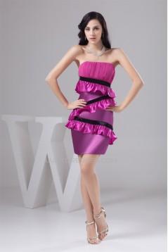 Pleats Chiffon Silk like Satin Sheath/Column Prom/Formal Evening Dresses 02021337