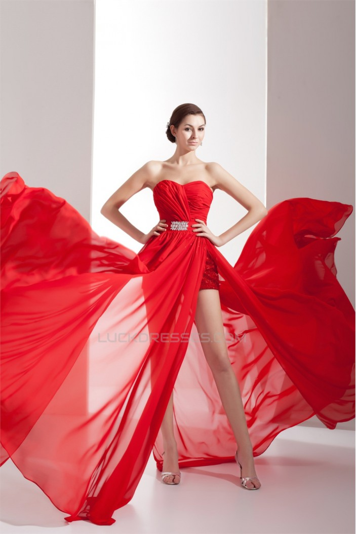 Chiffon Beading Sweetheart Prom/Formal Evening Dresses 02020134