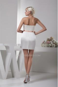 Satin Silk like Satin Strapless Sleeveless Prom/Formal Evening Dresses 02021349