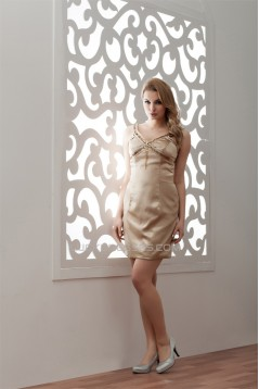 Sheath/Column Beading Elastic Woven Satin Prom/Formal Evening Dresses 02021355
