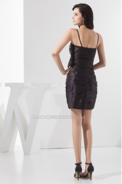 Sheath/Column Pleats Sleeveless Short/Mini Little Black Dresses 02021362