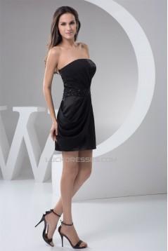 Sheath/Column Sleeveless Beading Short/Mini Prom/Formal Evening Dresses 02021367