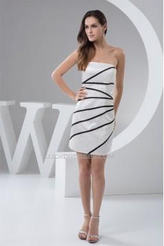 Sheath/Column Strapless Short/Mini Sleeveless Prom/Formal Evening Dresses 02021370