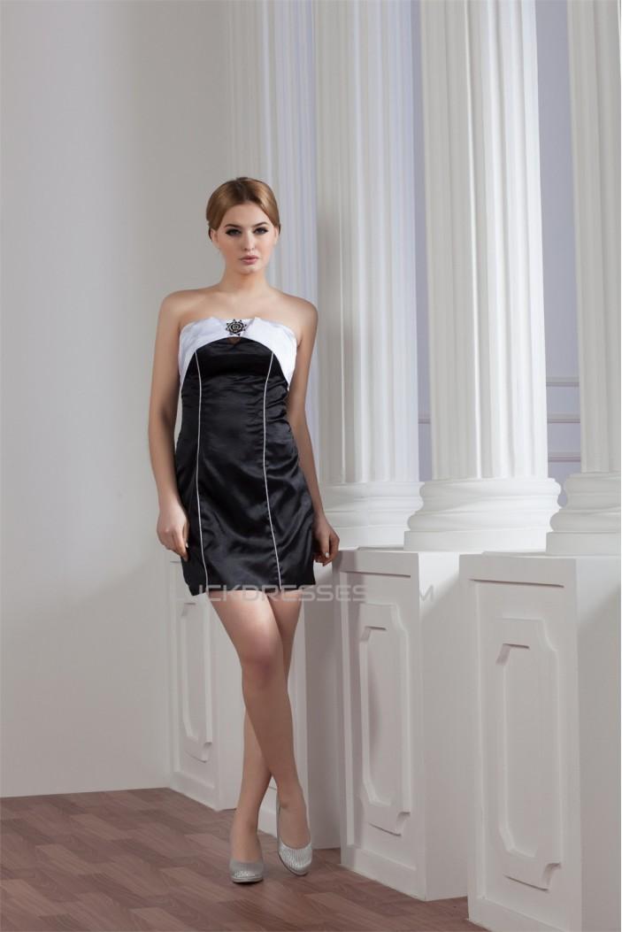Sheath/Column Strapless Sleeveless Short/Mini Prom/Formal Evening Dresses 02021371
