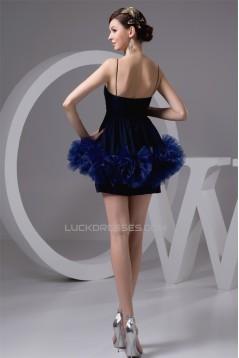 Short/Mini A-Line Chiffon Silk like Satin Prom/Formal Evening Dresses 02021372