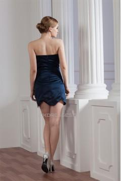 Short/Mini Beading Elastic Woven Satin Prom/Formal Evening Dresses 02021373