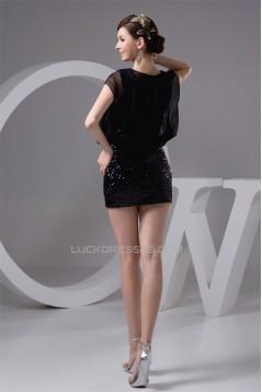 Short/Mini Beading Scoop Sheath/Column Prom/Formal Evening Dresses 02021375