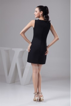 Short/Mini Chiffon High-Neck Sheath/Column Prom/Formal Evening Dresses 02021377