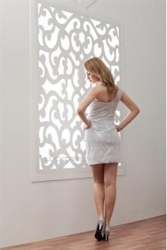 Short/Mini Elastic Woven Satin One-Shoulder Prom/Formal Evening Dresses 02021378