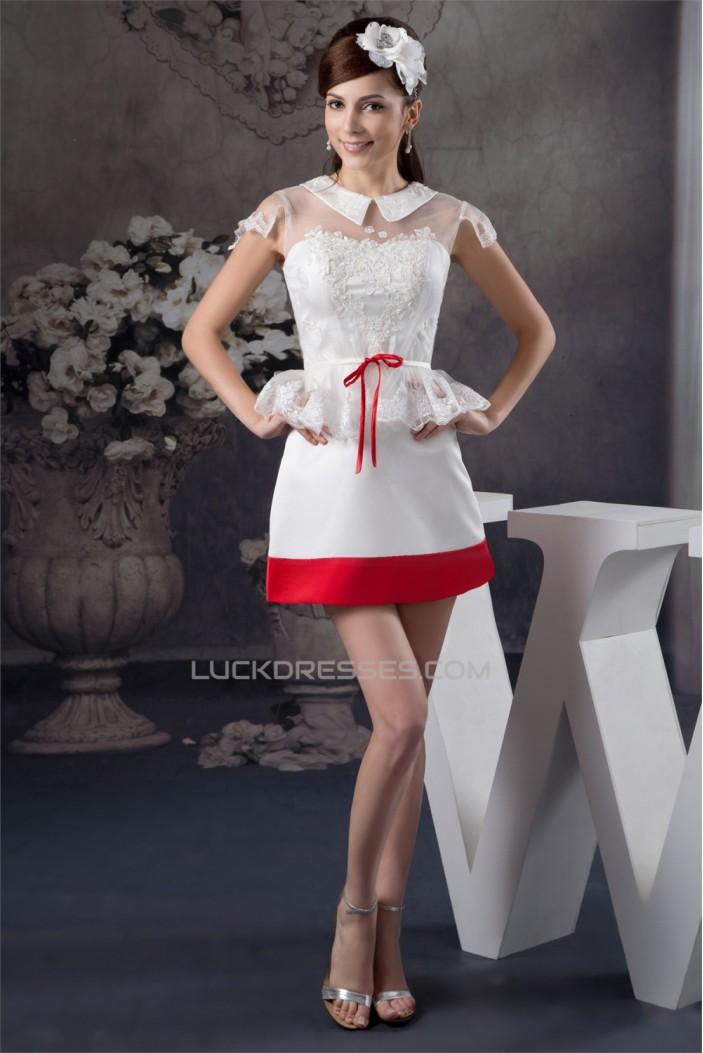 Short/Mini High-Neck Beading A-Line Short Prom/Formal Evening Dresses 02021380