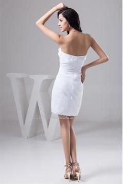Short/Mini Sheath/Column Sleeveless Chiffon Silk like Satin Bridesmaid Dresses 02021386