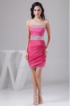 Short/Mini Sheath/Column Strapless Sleeveless Prom/Formal Evening Dresses 02021389